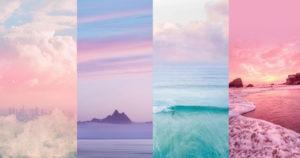 รูปถ่ายท้องฟ้าสีพาสเทลสวยๆ