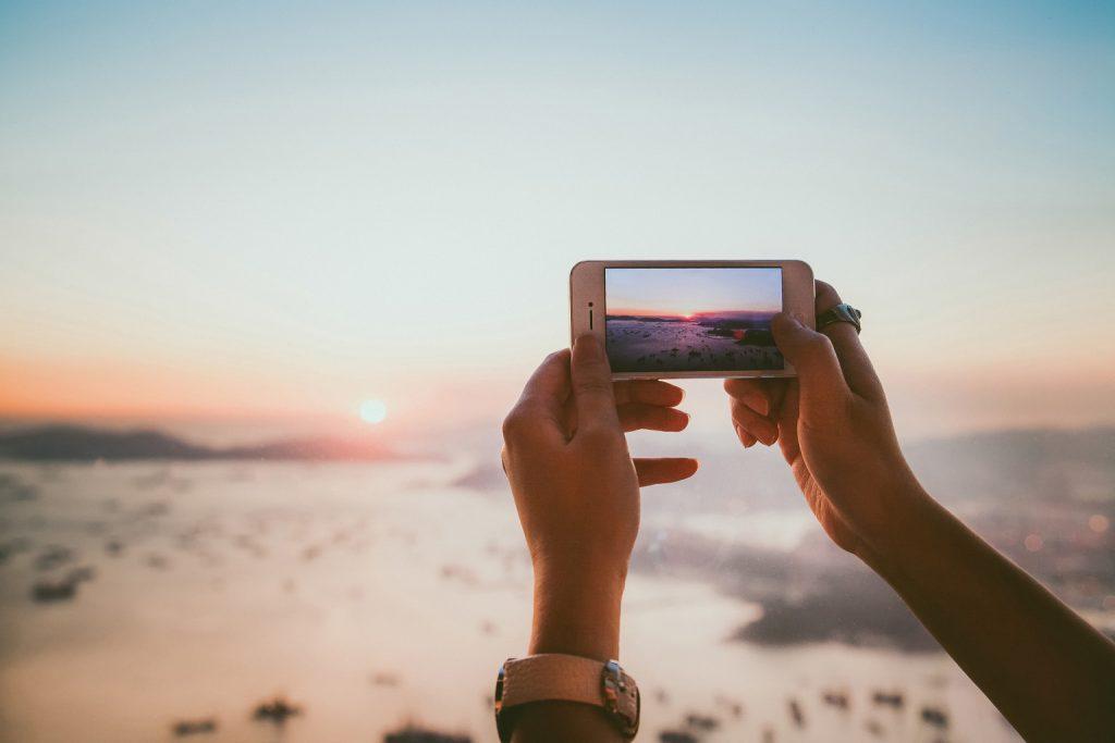 กล้องโทรศัพท์มือถือ-ถ่ายพระอาทิตย์